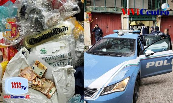 Poggioreale: scoperto laboratorio di merce contraffatta in un garage