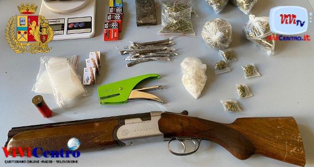 Secondigliano: sequestrato un fucile e sostanza stupefacente