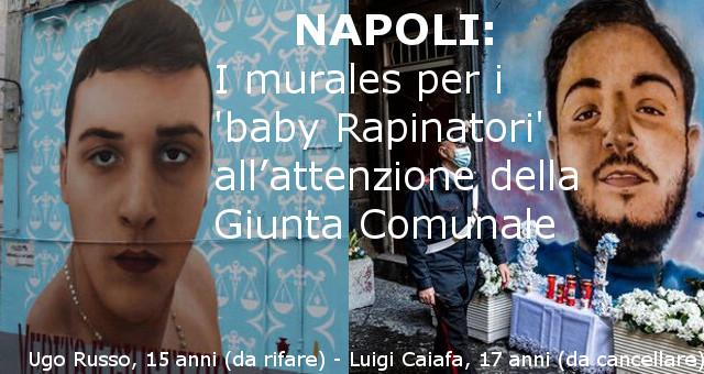 Napoli, i murales per i 'baby Rapinatori' all'attenzione della Giunta Comunale