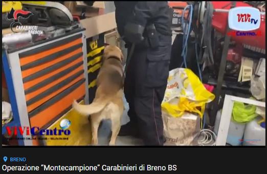 """Operazione """"Montecampione"""" Carabinieri di Breno BS"""