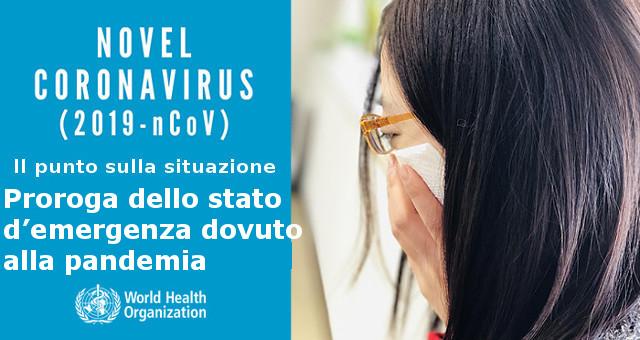 Proroga dello stato d'emergenza dovuto alla pandemia da Covid-19