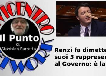 Renzi fa dimettere i suoi tre rappresentanti al Governo