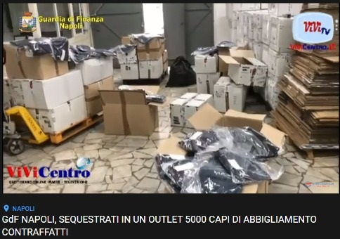 Sequestrati 5000 capi di abbigliamento dalla Guardia di Finanza VIDEO