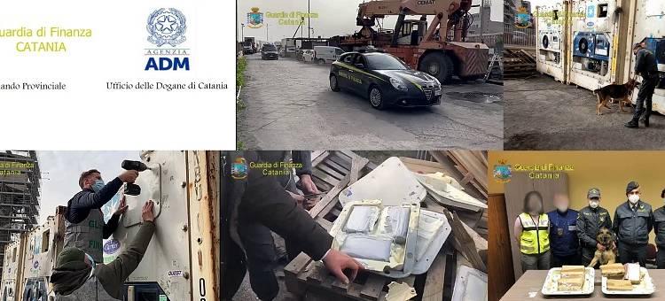 Sequestrati dalla Guardia di Finanza di Catania e Agenzia delle Dogane della città