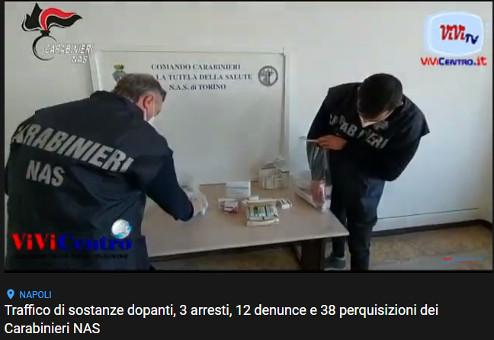 Traffico di sostanze dopanti, 3 arresti, 12 denunce e 38 perquisizioni dei Carabinieri NAS