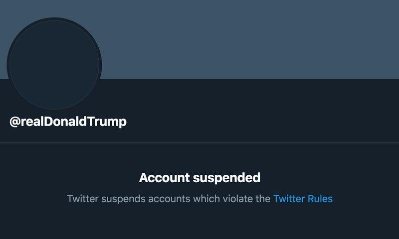 Il presidente Trump è stato bandito in modo permanente da Twitter