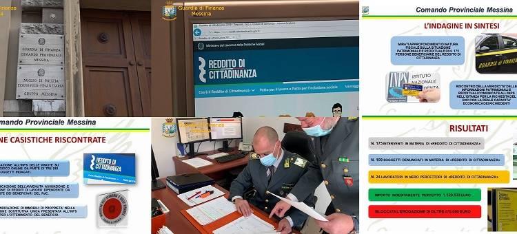 Il Comando della Guardia di Finanza di Messina ha scovato 175 soggetti
