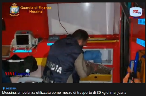 droga trasportata in un'ambulanza