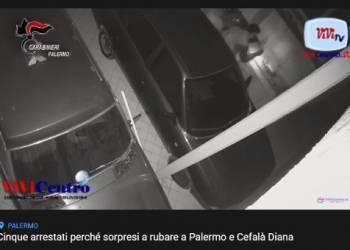 Cinque arrestati dai CC del Comando provinciale di Palermo