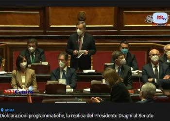 Dichiarazioni programmatiche, la replica del Presidente Draghi al Senato