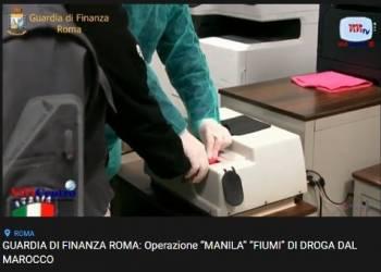 """GdF Roma, operazione """"Manila"""". """"Fiumi"""" di droga dal Marocco"""
