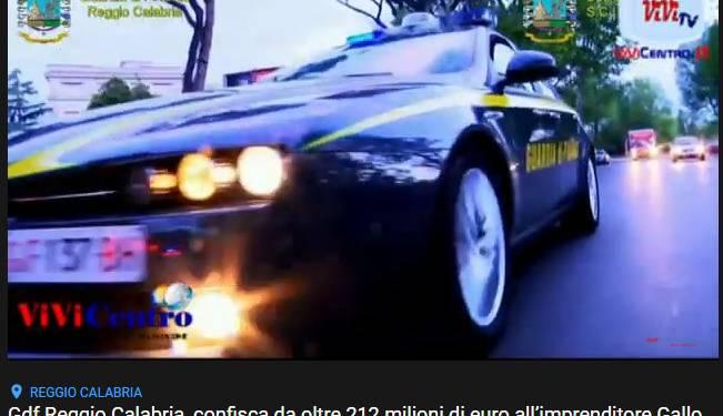 Gdf Reggio Calabria, confisca di oltre 212 milioni di euro all'imprenditore Gallo Domenico