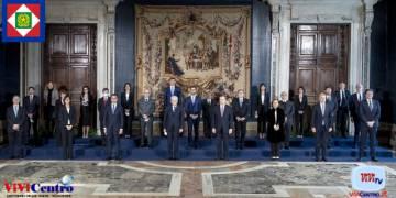 Mattarella e Draghi - Governo Draghi, Foto di Gruppo