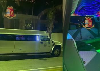 festeggiavano un compleanno in giro per Mondello in una limousine tra alcool e baldoria