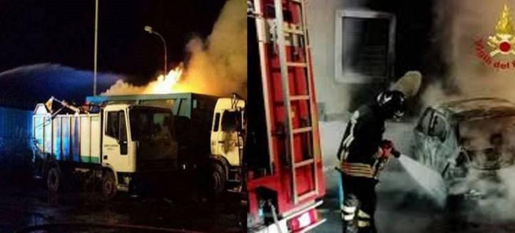 Incendiati 5 camion di un'azienda