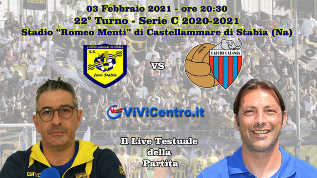 Juve Stabia-Catania LIVE