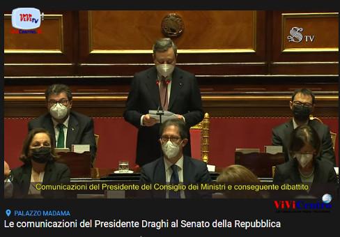 Le comunicazioni del Presidente Draghi al Senato della Repubblica