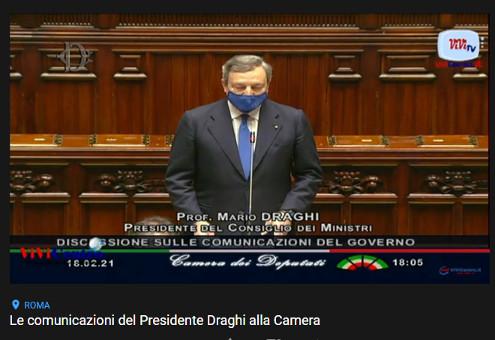 Le comunicazioni del Presidente Draghi alla Camera