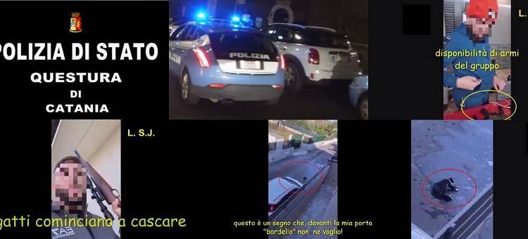 """Con l'operazione """"Minecraft"""" la Polizia di Stato di Catania ha eseguito perquisizioni e sequestri"""