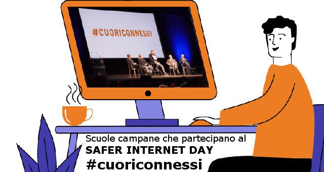 Scuole campane che partecipano al SAFER INTERNET DAY #cuoriconnessi