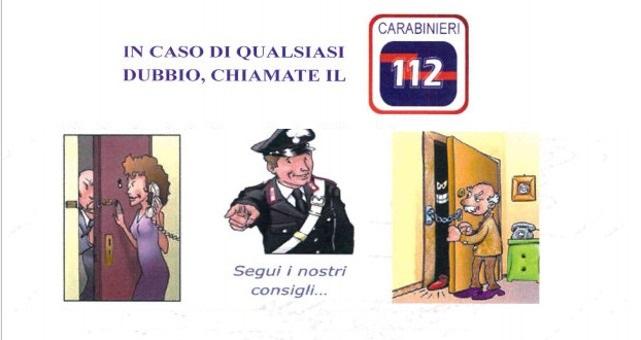Truffe ai danni di anziani, come difendersi. Brochure dei Carabinieri