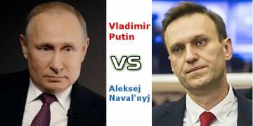 Vladmir Putin vs il leader dell'opposizione russa Navalny