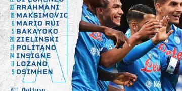 Formazioni ufficiali Napoli-Juventus