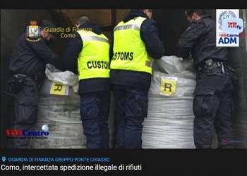 Como, intercettata spedizione illegale di rifiuti