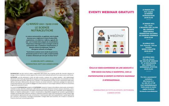 Cultura ai tempi del coronavirus: video-conferenze on line su importanti temi socio-culturali e scientifici - eventi webinar gratuiti.