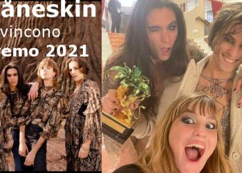 I Måneskin vincono Sanremo 2021, Combi (foto dal loro FB)