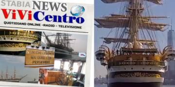 """Sanremo: tutti """"Zitti e buoni"""" dinanzi all' Amerigo Vespucci"""