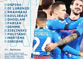 Napoli-Bologna formazioni ufficiali