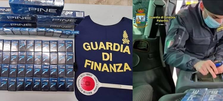 Sequestro della GdF di Palermo di 8 kg di sigarette