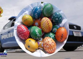 Uova di Pasqua dalla Polizia