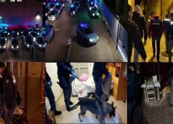 Con la maxi operazione in corso la Polizia di Stato di Enna ha eseguito 30 arresti in carcere