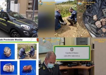 Gli ordigni rinvenuti dalla GdF di Messina