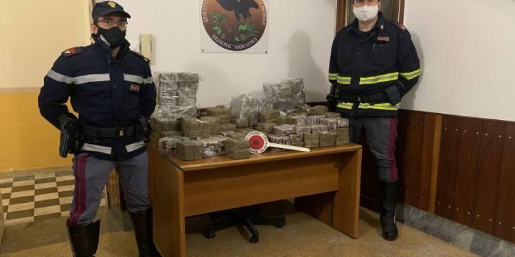 arrestato un 38enne palermitano che trasportava hashish per un valore di circa settecentomila euro