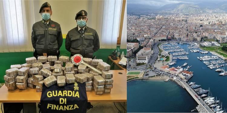 due corrieri palermitani della droga sbarcati al porto che trasportavano hashish provenienti da Napoli