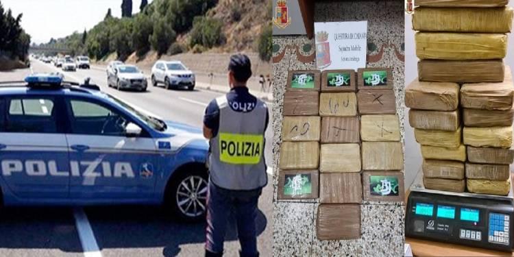 La Polizia di Stato di Catania ha arrestato al casello San Gregorio dell'autostrada A18