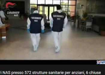 Carabinieri NAS presso 572 strutture sanitarie per anziani, 6 chiuse