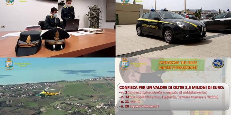 Confiscati dalla GdF di Finanza di Palermo che ha eseguito un decreto del Tribunale