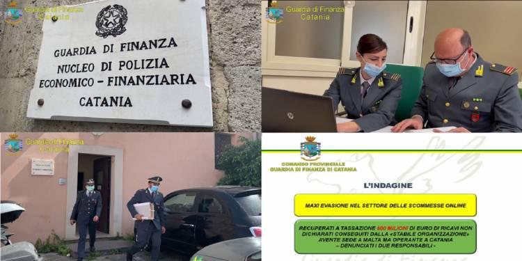 La GdF di Catania ha denunciato per evasione fiscale due persone