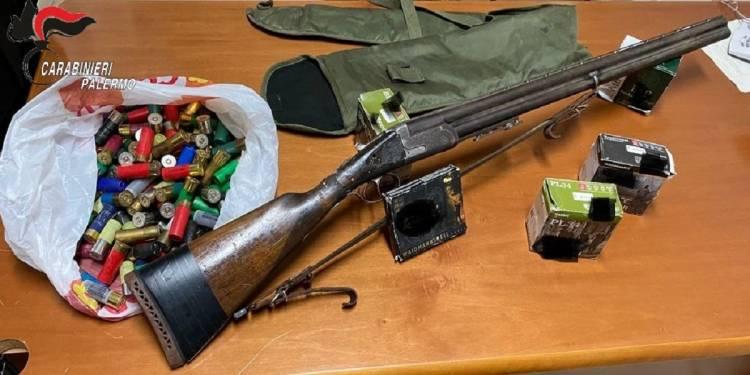 in arresto un uomo del luogo che nel camper aveva un fucile a canne sovrapposte calibro 12