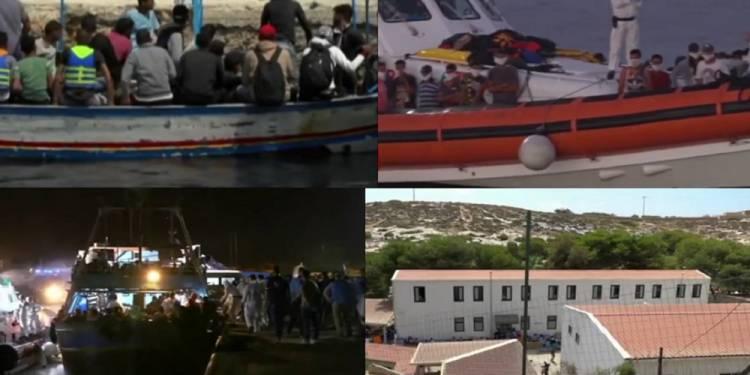 Sbarchi a Lampedusa, in oltre 400 l'hanno raggiunta su dei barconi Altri sbarchi oggi a Lampedusa. Solo qualche giorno addietro erano arrivati in circa 200