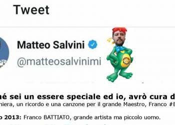 Un GRANDE ci ha lasciati, Salvini su Battiato