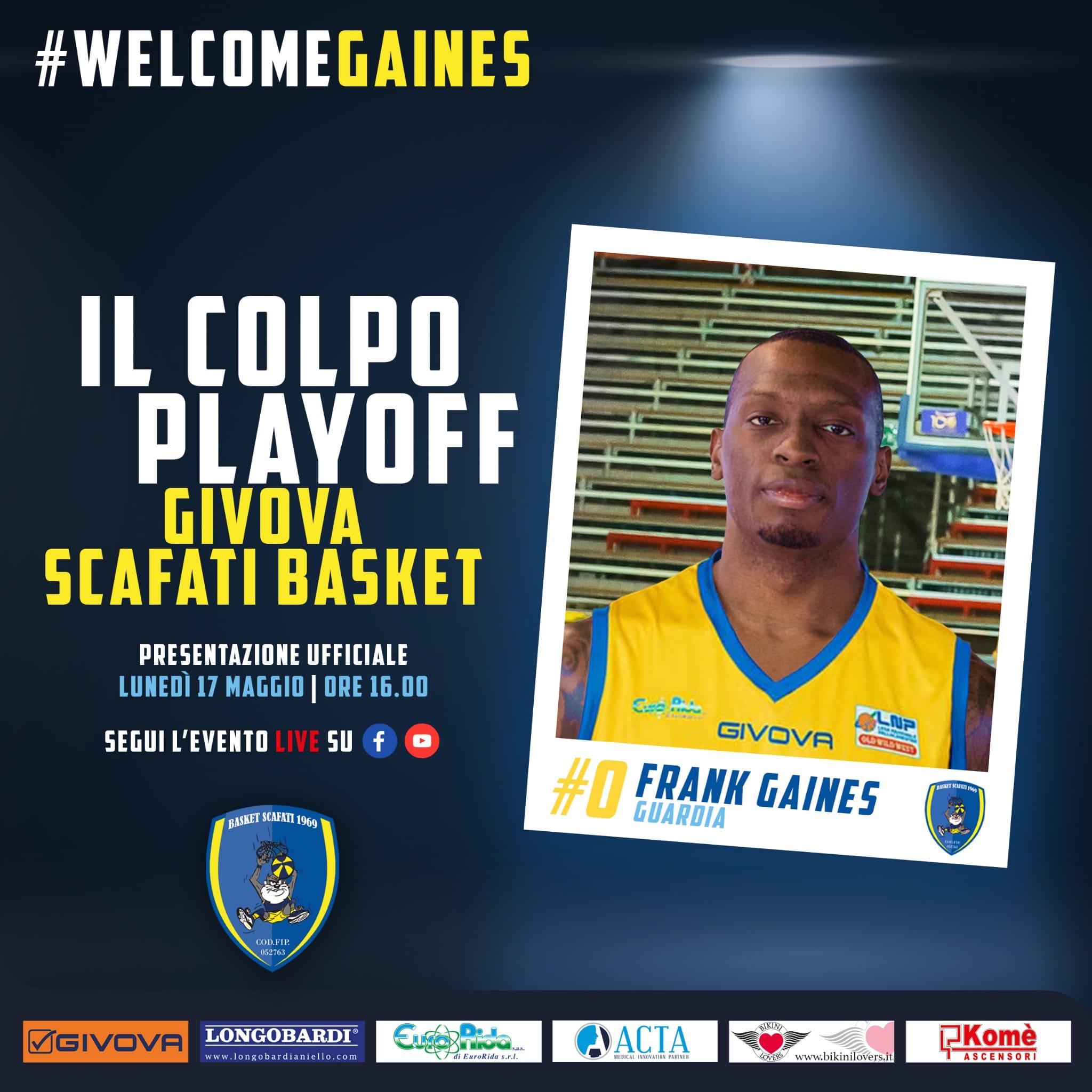 Frank Gaines arriva a Scafati