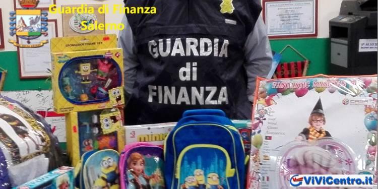 Guardia di Finanza di Salerno: maxi operazione vs prodotti contraffatti