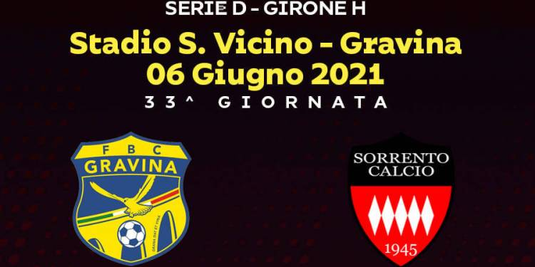 Gravina vs Sorrento, 33° Giornata Girone H