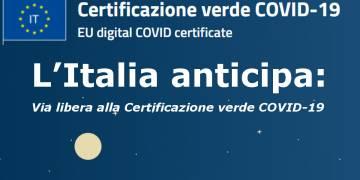 L'Italia anticipa il foglio verde Covid-19