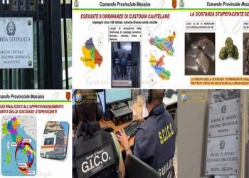 La GdF di Messina ha disarticolato un narcotraffico tra Catania, Messina, Pescara e Roma